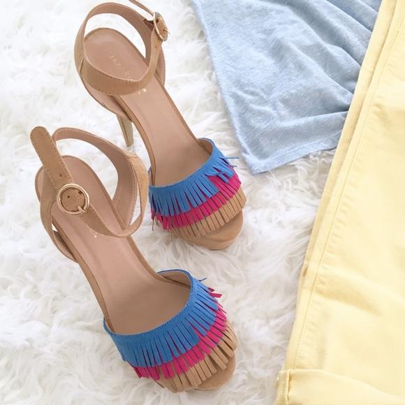 Shoes | Fringe Platform Sandals | Poshmark